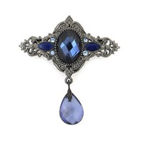 Royal Blue Dangling Vintage Brooch