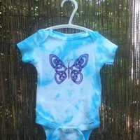 Hand painted Celtic baby bodysuit