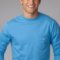 SOUTHERN TIDE MEN'S EMBROIDERED POCKET LONG SLEEVE TEE