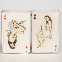 Vintage Pin-up Playing Cards Deck / 60's Poker Cards Deck / Double Deck