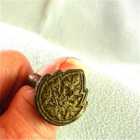 Ancient Roman Bronze Ring with Leaf Shaped Face ca 2000 Years Old   craftsofthepast - Antiques on ArtFire