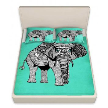 Pam Gallegos- Pom Graphic Design's 'Elephant of Namibia Color' | Designer Unique Bed Sheets