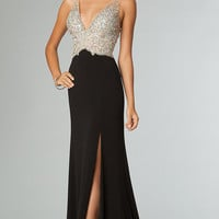 Sleeveless JVN by Jovani Evening Gown with Open Back