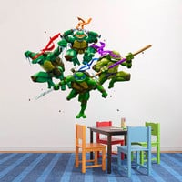 TMTN Decal - Hero Superhero Printed and Die-Cut Vinyl Apply in any Flat Surface - Teenage Mutante Ninja Turtles Wall Art Design Decor