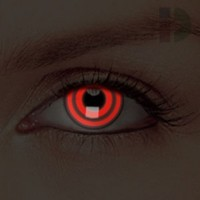iD Lenses Bulls Eye Glow In The Dark Contacts