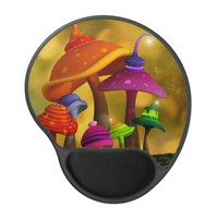 Whimsical Mushrooms Gel Mousepad