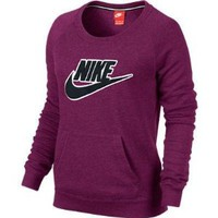 Nike Womens Rally Crew Patch X-Small Raspberry Red