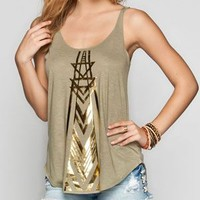 Billabong Golden Feet Womens Tank Olive  In Sizes
