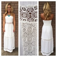 White Lace Cabo Maxi Dress