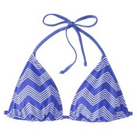 Mossimo® Women's Mix and Match Chevron Triangle Swim Top -Grace Bay Blue