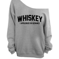 Slouchy Oversized Sweater - Whiskey - I apologize in advance - Gray