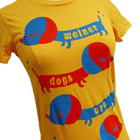 Dachshund Shirt - Wiener Dog Circus T-Shirt - Available in sizes S, M, L, XL