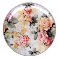 White Floral - Plug | UK Custom Plugs Shop for gauges, alternative fashion & body jewellery