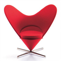 Vitra Miniatures - Heart Shaped Cone Chair by Verner Panton