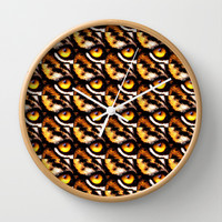 TIGER EYES Wall Clock by catspaws