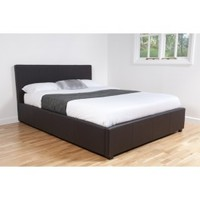 Sleep Secrets | Othello Storage Ottoman Black Faux Leather Bed Frame | bedsdirectuk.net