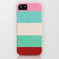 five - holiday iPhone & iPod Case by her art