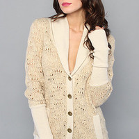 Karmaloop.com - Global Concrete Culture - The Log Cabin Cardi in Sand by Free People