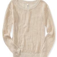 Sheer Open-Knit Sweater
