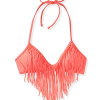 LLD Solid Fringe Triangle Top