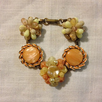 Vintage Earring Bracelet, Upcycled,, Repurposed, OOAK,