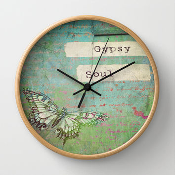 Gypsy Soul Wall Clock by Ally Coxon