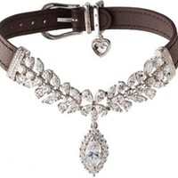 La Jeune Tulipe Diamond Dog Pet Collar - EXCLUSIVE TO POSH PUPPY BOUTIQUE - Collars, Leads & Harnesses - Luxury & Diamond Collars Posh Puppy Boutique