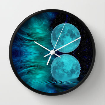 MOONSWEPT Wall Clock by catspaws