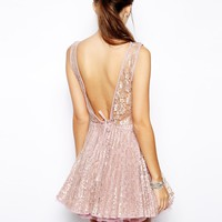 Jones and Jones Vicky Lace Dress with Pleated Skirt
