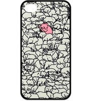 Fashion Zigzag Print Cute Elephant Hard Plastic Case Cover for iPhone 5 5S (I)