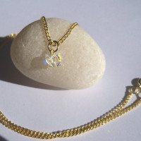 Gold Chain with Swarovski Crystal Butterfly Necklace