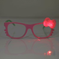 LED Bow Kitty Glasses