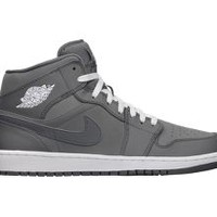 Nike Air Jordan 1 Mid Men's Shoes - Cool Grey