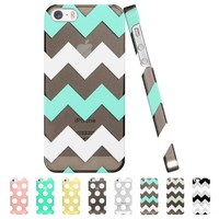 ESR the Beat Series Zagz Pattern Hard Back Cover Snap on Case for iPhone 5 / 5s (Transparent Mint)