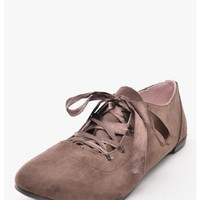 Brown Preppy Chic Suede Oxfords   $10.00   Cheap Trendy Flats Chic Discount Fashion for Women   Mod