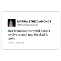 Marina and The Diamonds Tweet Sticker