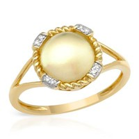 VIDA 14K Two tone Gold Ring 2.82 CTW Quartz , Diamond - 			        	For Your Little One: Designer Pieces Shop