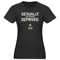 Army Girlfriend: Deprived for your Freedom Women's Fitted T-Shirt dark by CafePress