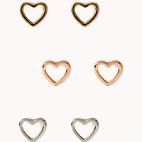 Open Heart Stud Set