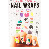 CRAZY HEARTS NAIL WRAPS