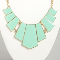 Bedrock and Roll Mint Green Statement Necklace