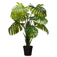 5' Split Leaf Philodendron Monstera Silk Plant w/Pot