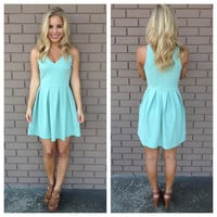 Mint V-Neck Jenna Dress