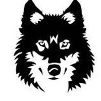 Design with Vinyl Design 142 Wolf Head Picture Art Vinyl Wall Decal, 18-Inch By 22-Inch, Black