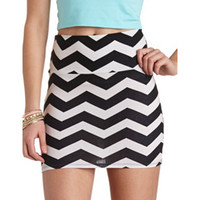 BODYCON CHEVRON MINI SKIRT