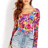 Splashy Floral Bodysuit