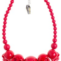 KREEPSVILLE 666 RED SKULL COLLECTION NECKLACE