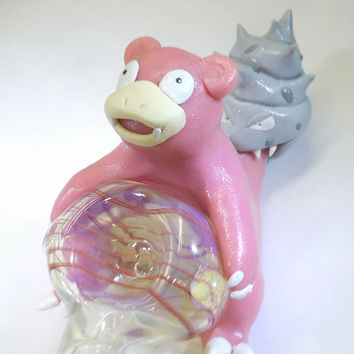 Slowbro Smoking Pipe - Pokemon Pipe - JimwillieMiniatures