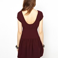 BCBGeneration Dress with Gathered Waist and Zip Back Detail