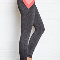 Heathered Colorblocked Yoga Leggings